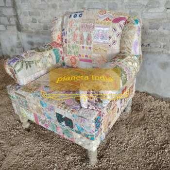 poltrona artigianale patchwork