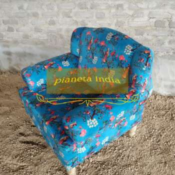 poltrona con tessuto indiano