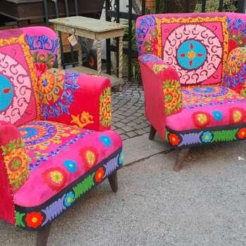 Poltrone patchwork autentiche indiane