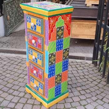 cassettiera multicolor