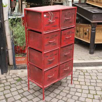 cassettiera rossa